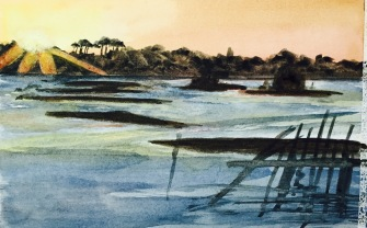 low tide painting